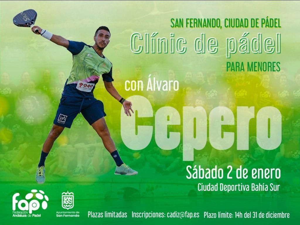 Álvaro Cepero impartirá un clínic de pádel para menores