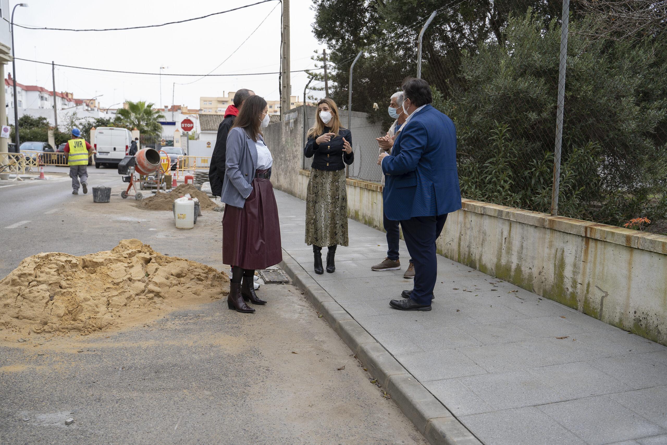 Las obras de accesibilidad de la calle Fragata a punto de finalizar