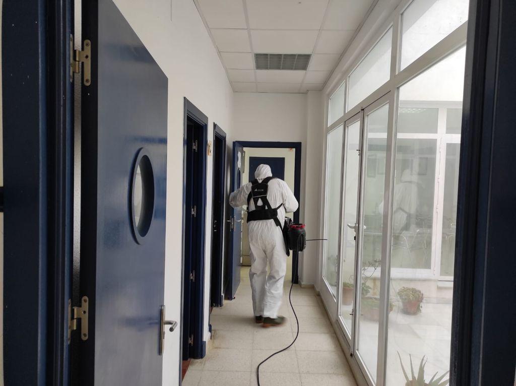El Tercio de Armada continúa con sus tareas de desinfección de instalaciones en la ciudad de San Fernando