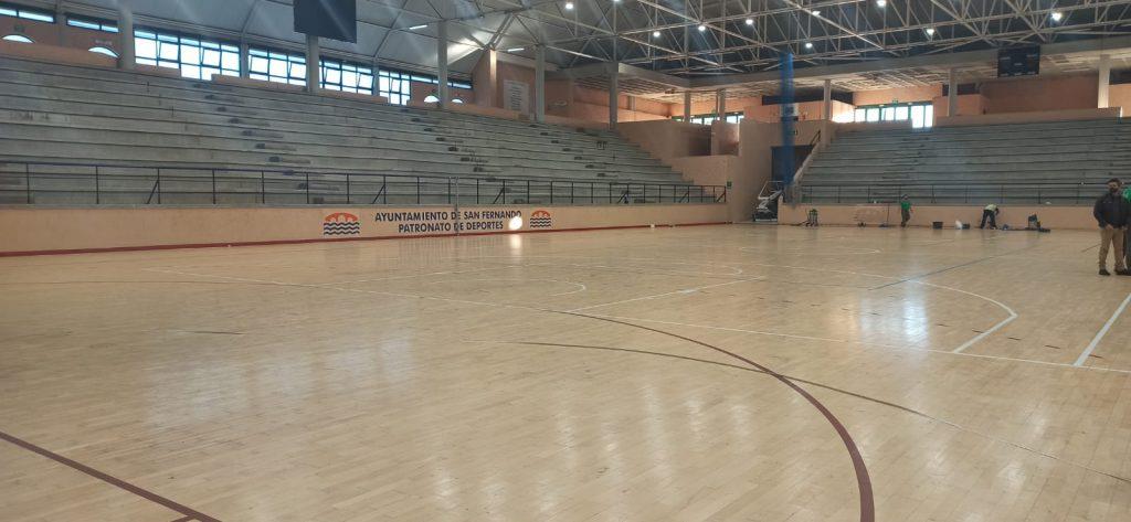 Comienzan los trabajos de mejoras en el Pabellón Cubierto de la Ciudad Deportiva de Bahía Sur