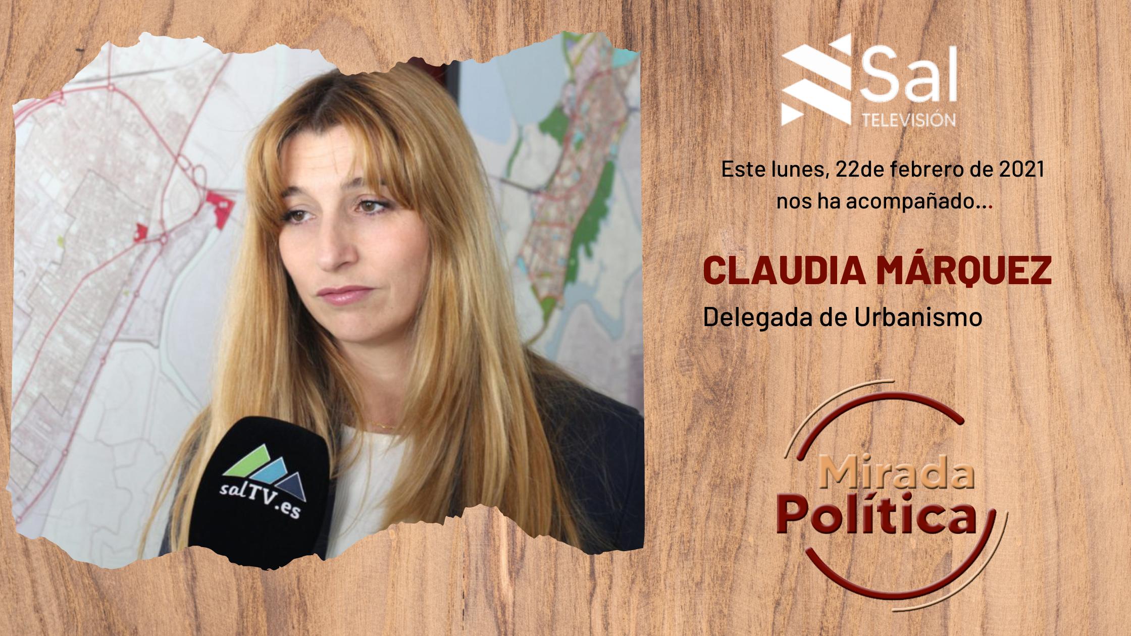 Claudia Márquez,  delegada de Urbanismo
