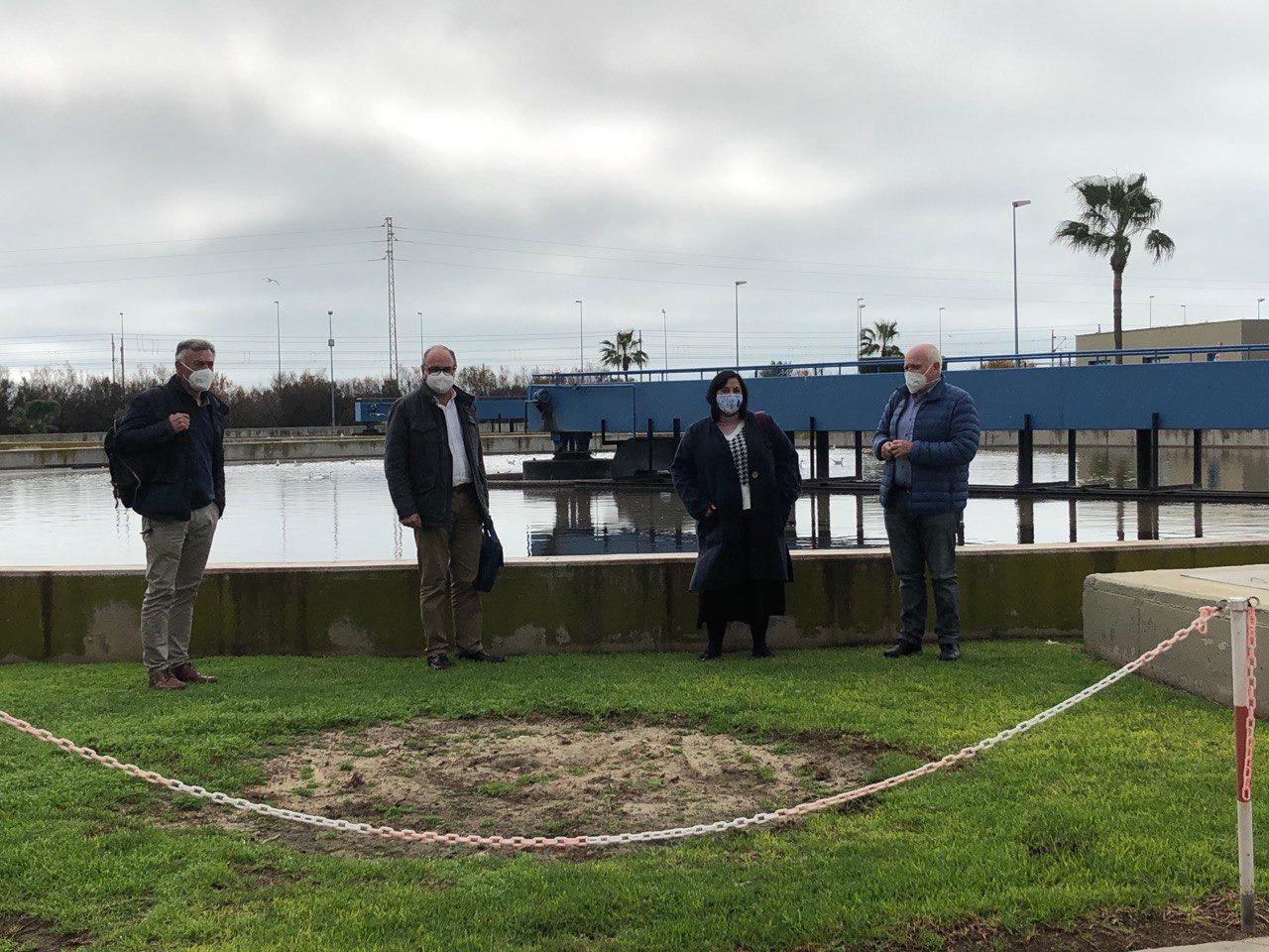San Fernando avanza en el sistema terciario de reutilización del agua para riego y baldeo