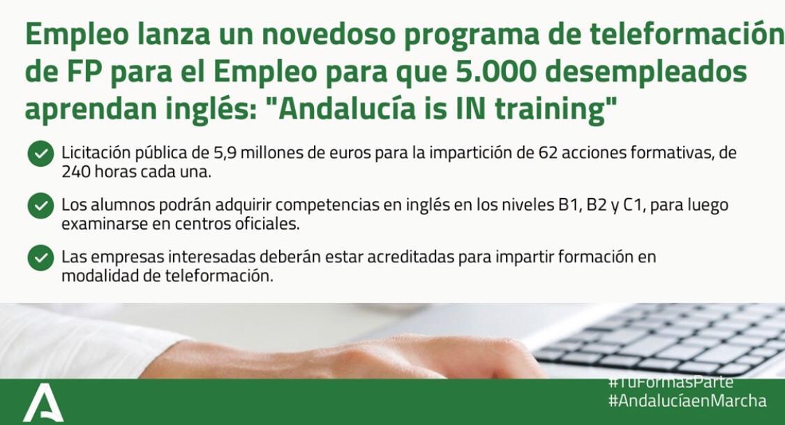 Moreno: «La Junta sigue poniendo en marcha iniciativas de formación para los desempleados»