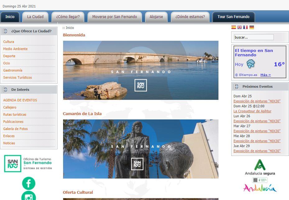 El Ayuntamiento ya tiene empresa que confeccione la web de Turismo