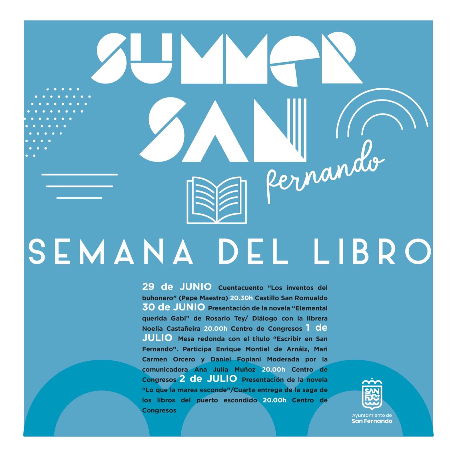La literatura se suma a las citas del verano con una Semana del Libro