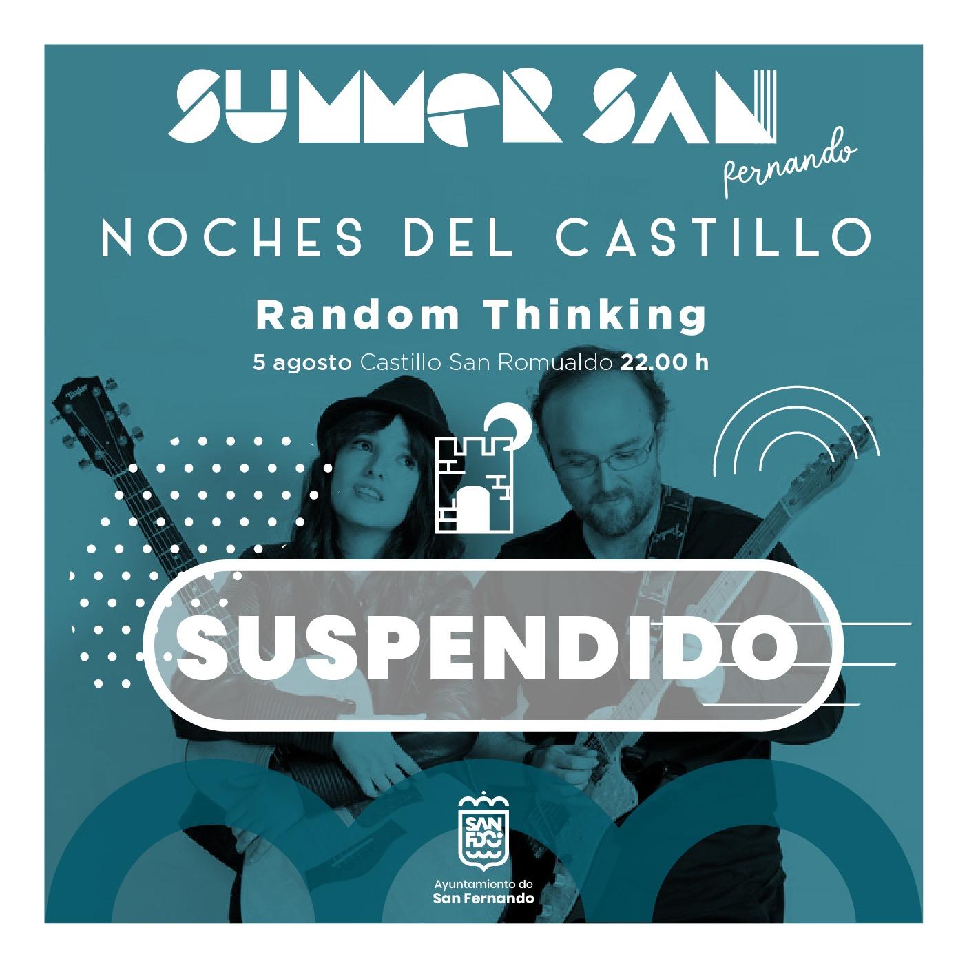 Suspendido el concierto de Random Thinking